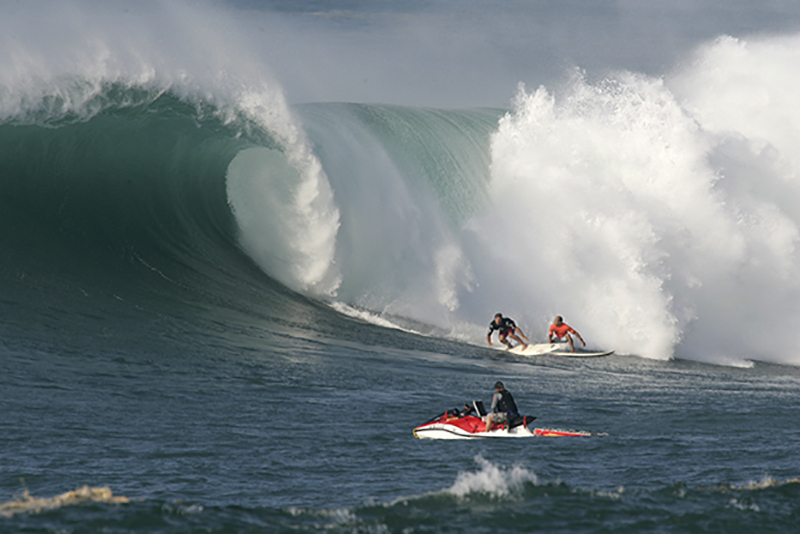 Pancho Sullivan and Kelly Slater